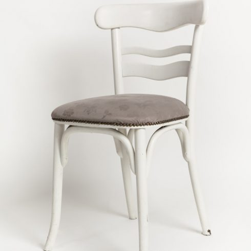beautiful gray and white vintage chair