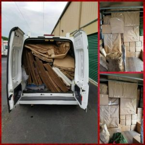packed moving truck with boxes
