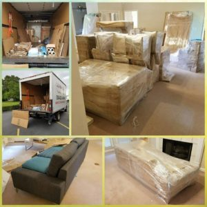 furniture wrapped for moving